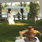 Выездной свадебный фуршет на природе